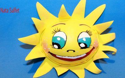 Cómo hacer un sol en 3 dimensiones, estilo fofucha (Videotutorial)