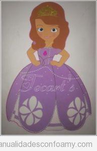 Muñeca princesa de goma eva 2D o plana fácil