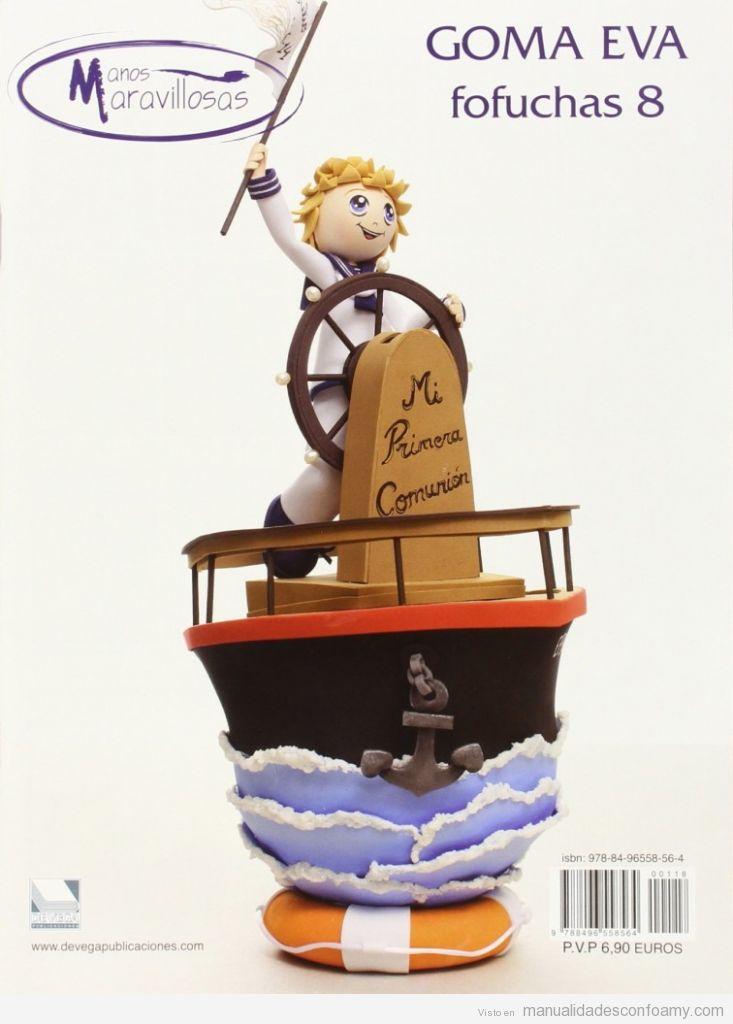 Muñeco fofucha, marinero con barco