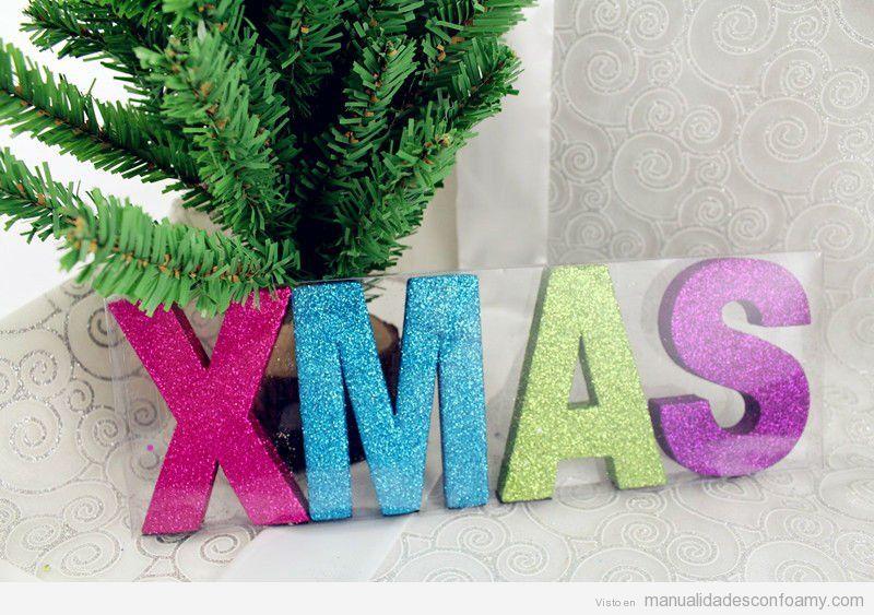 Navidad manualidades con foamy manualidades de goma eva - Decoracion navidad goma eva ...
