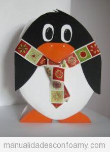 Pingüinos de foamy, manualidad para niños en Navidad 3