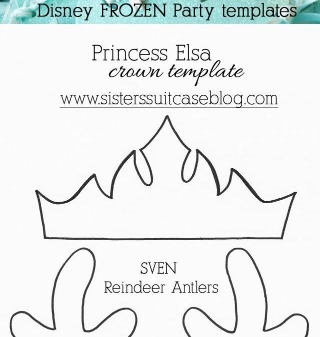 Patrones corona de la princesa Elsa y los cuernos de Sven de Frozen hechos en goma eva