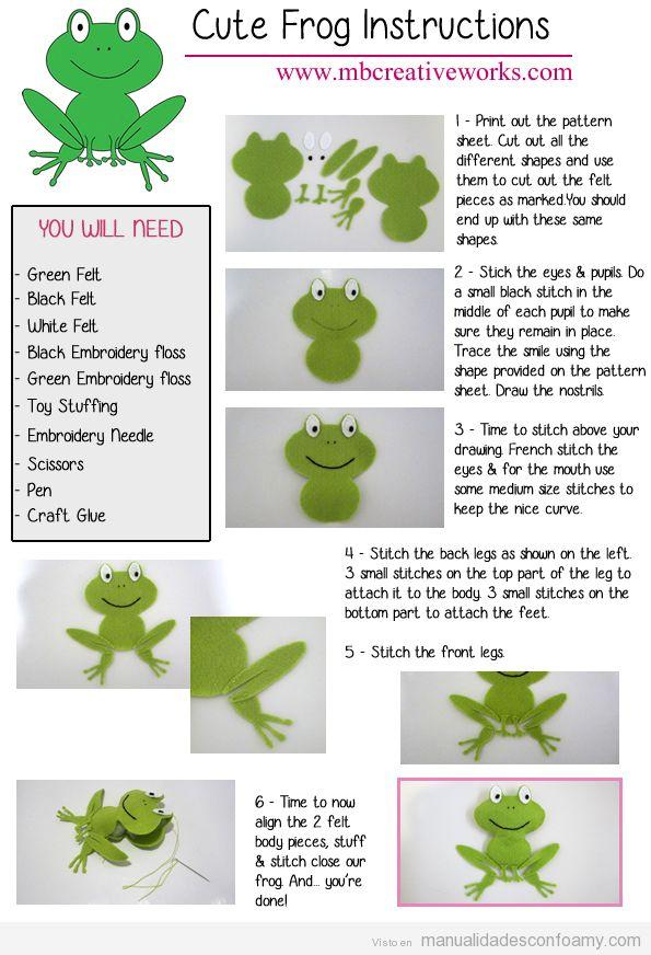 Tutorial rana goma eva fácil para niños