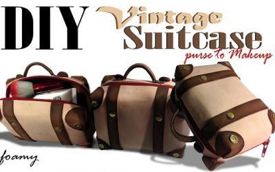 Cómo hacer un monedero con forma maleta vintage en con goma eva, vídeo paso a paso