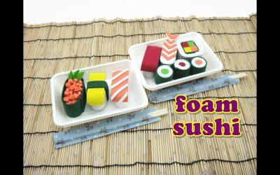 Pasos para hacer sushi de goma eva para jugar con niños (Vídeo)