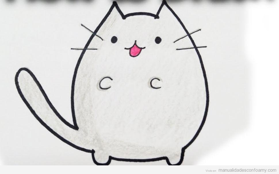 Dibujo fácil gato