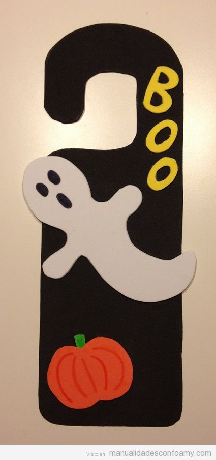 Manualidades fáciles goma eva Halloween, fantasmas y murciélagos 2