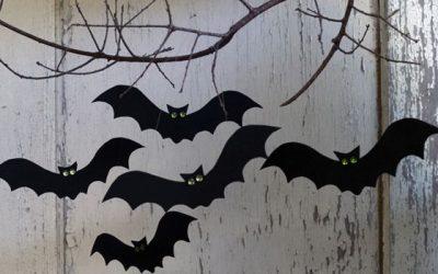 Fantasmas y murciélagos de goma eva, manualidades fáciles y divertidas para Halloween