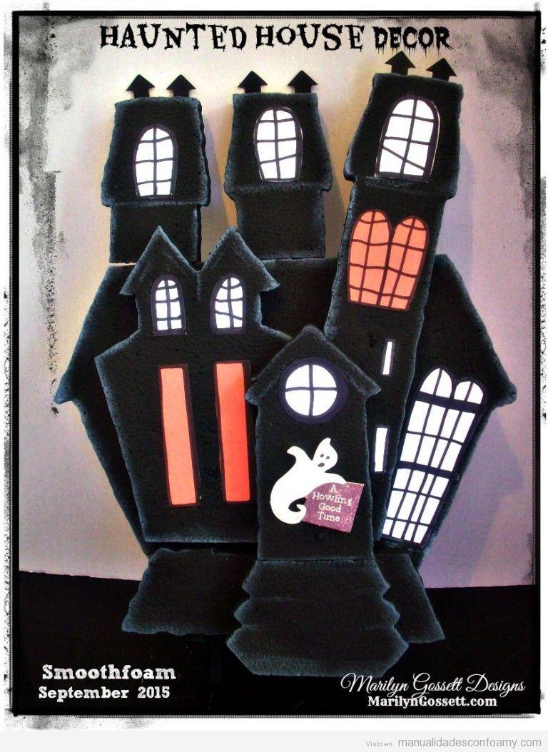 Tutorial casa encantada goma eva para Halloween
