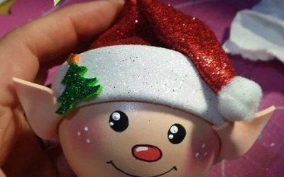 Decoraciones de Navidad hechas con goma eva por Erika Manualidades