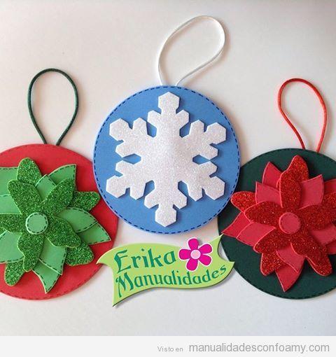 Decoraciones de foamy para Navidad