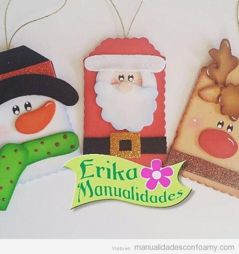 Adornos de navidad en foami cosas realizadas con foam - Decoracion navidad goma eva ...