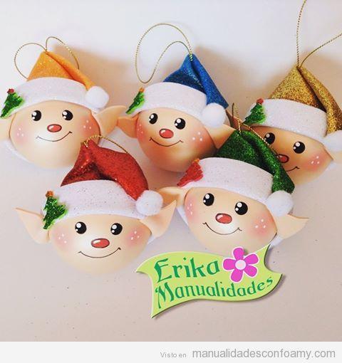 Pin de betty aspiazu en enos pinterest para navidad - Decoracion navidad goma eva ...