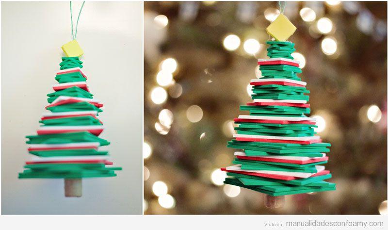 Árbol Navidad foamy fácil para niños 4