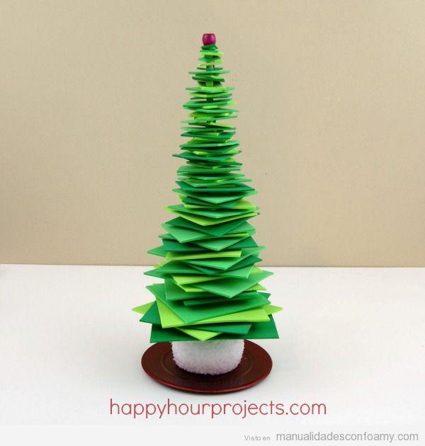 Árbol Navidad foamy fácil para niños