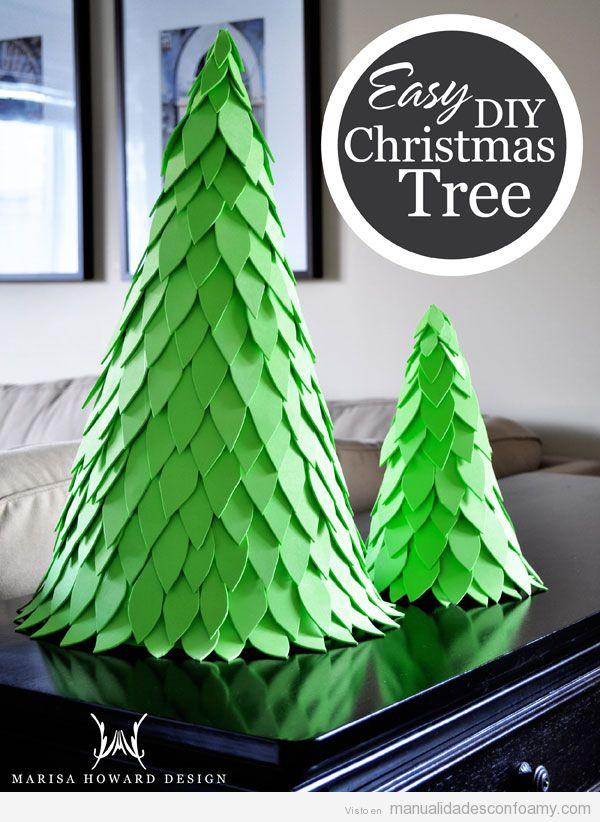 Árbol Navidad foamy fácil para niños 2
