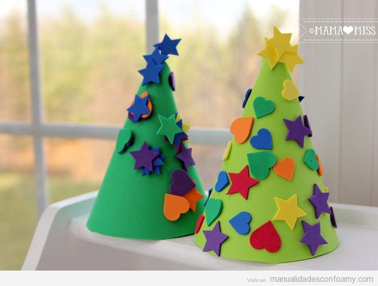 Árbol Navidad foamy fácil para niños 3