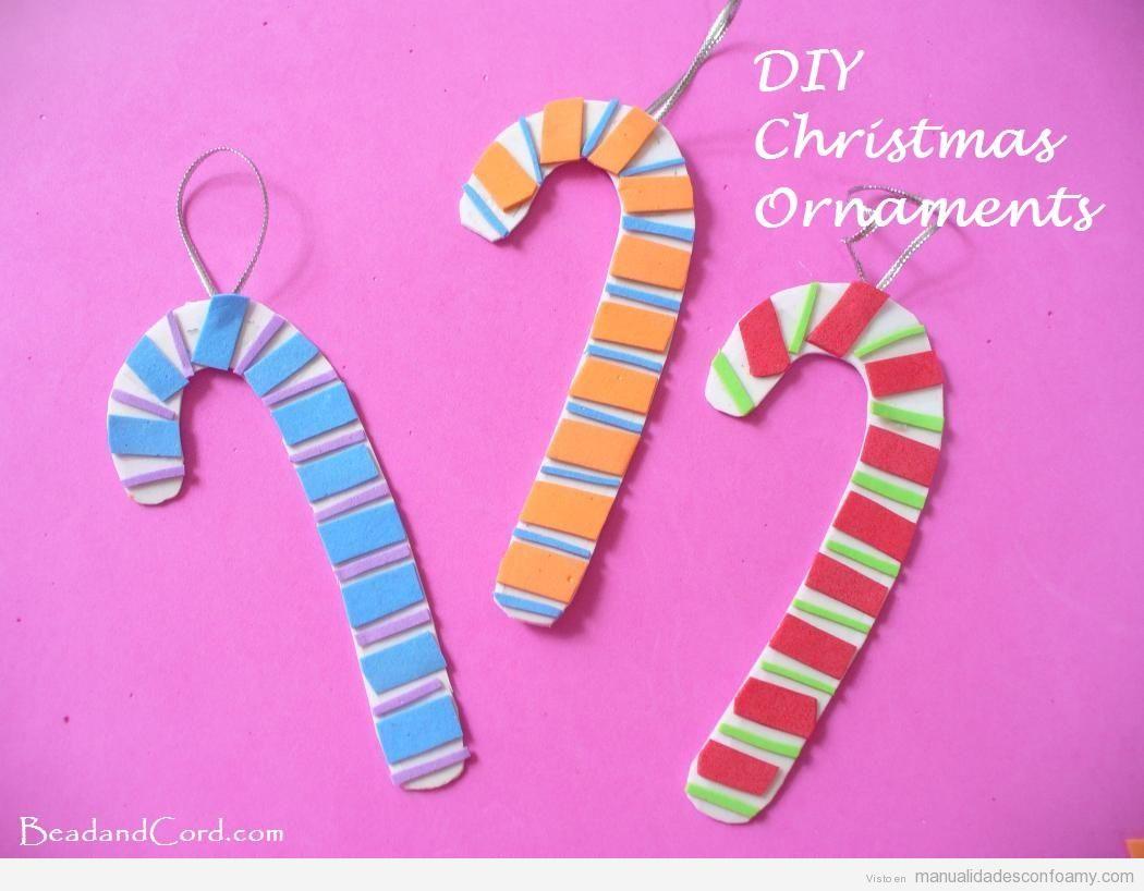 Adornos de navidad fáciles para hacer con niños: bolas, campanas ...