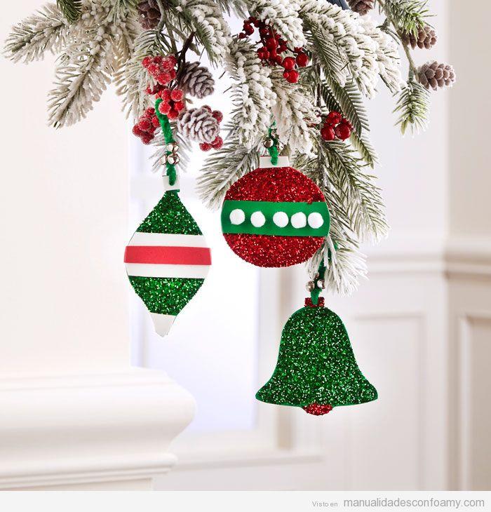 Adornos de Navidad de foamy fáciles 4