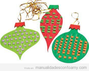 Adornos de Navidad de foamy fáciles 2