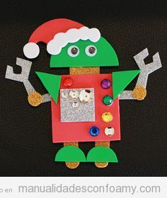 Manualidades para niños, robots de foamy