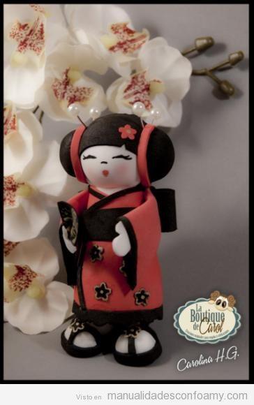 Muñecas fofuchas de goma eva japonesas 3