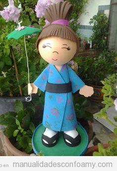 Muñecas fofuchas de goma eva japonesas 2