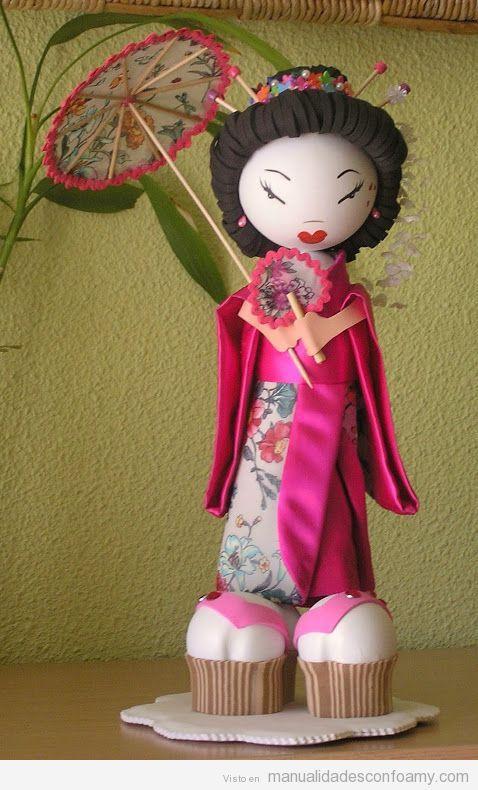 Muñecas fofuchas de goma eva japonesas