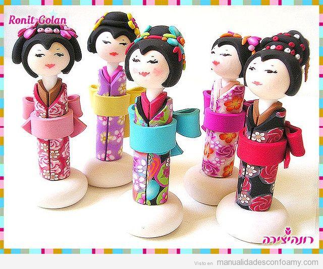 Muñecas fofuchas de goma eva japonesas 4