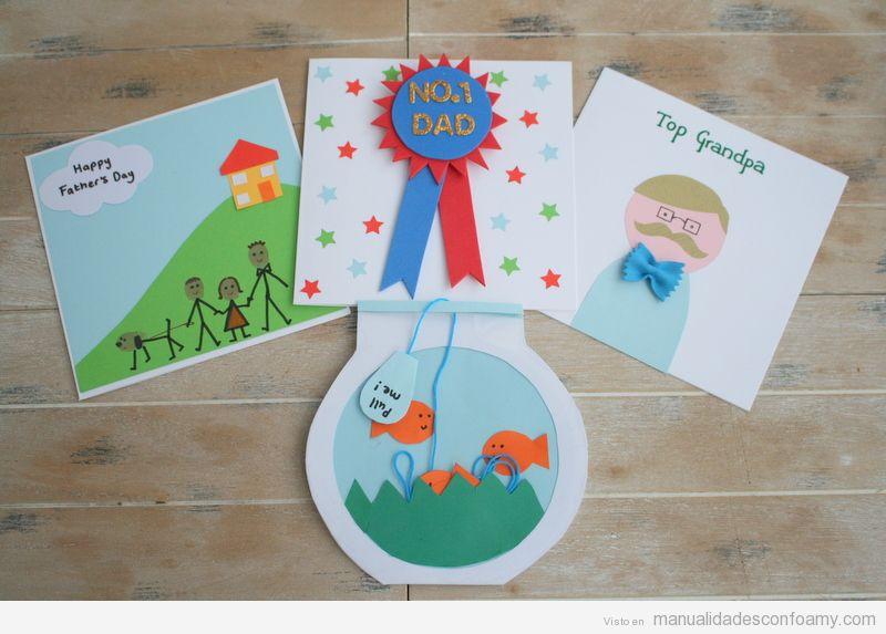Postales goma eva fáciles para regalar en Día del Padre