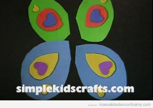 Mariposas de goma eva