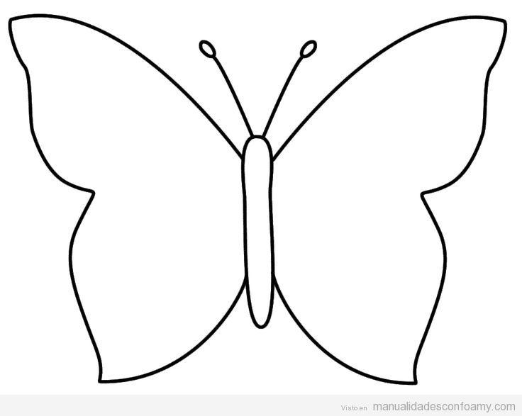 Patrón mariposa de foamy