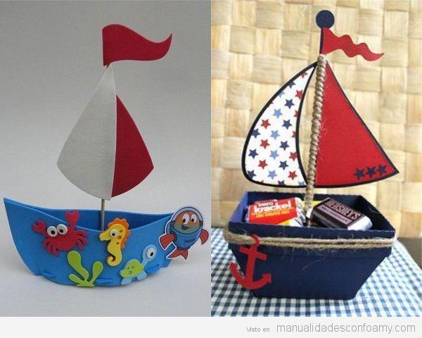 Barcos goma eva 3D 2