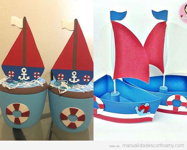 Barcos goma eva 3d