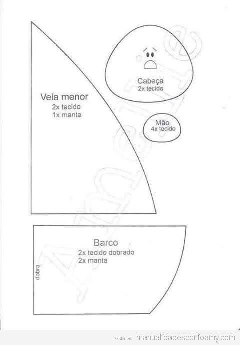 Hermosa Plantilla De Barco Pirata De Cartón Regalo - Colección De ...