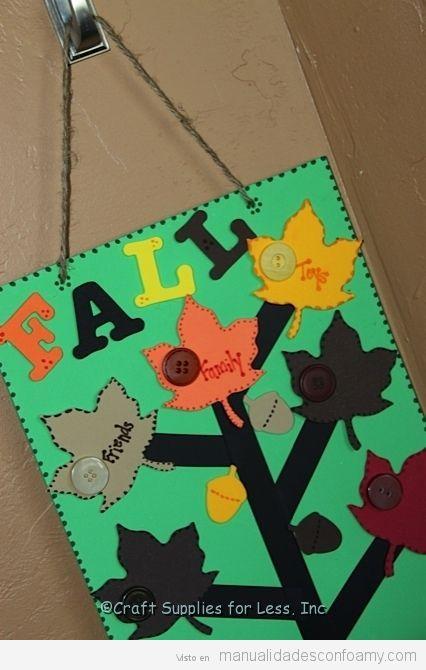 Manualidades otoño para niños, árbol