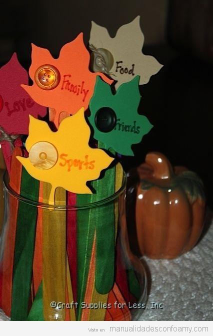 Manualidades otoño para niños, hojas