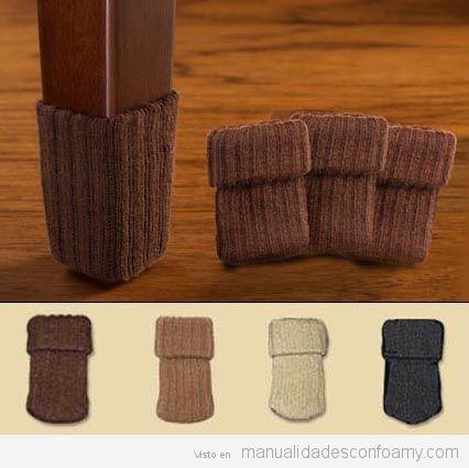 Calcetines patas mesa proteger suelos parquet 4