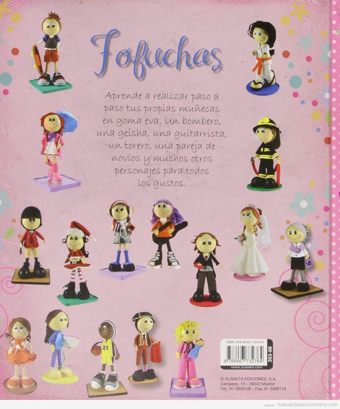 Libro manual para hacer muñecas fofuchas de goma eva