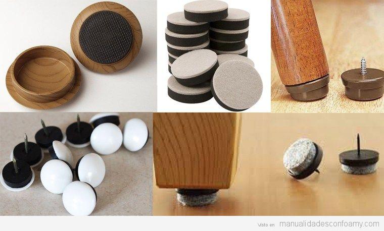 Manualidades para proteger los suelos de parquet de - Protector de suelo para sillas ...