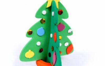 Cómo Hacer un Árbol de Navidad 3D con Goma Eva, 4 vídeos paso a paso