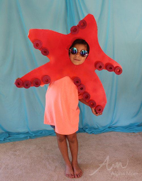 Disfraces Carnaval de goma eva, estrella de mar
