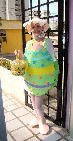Disfraces Carnaval de goma eva, huevo de pascua