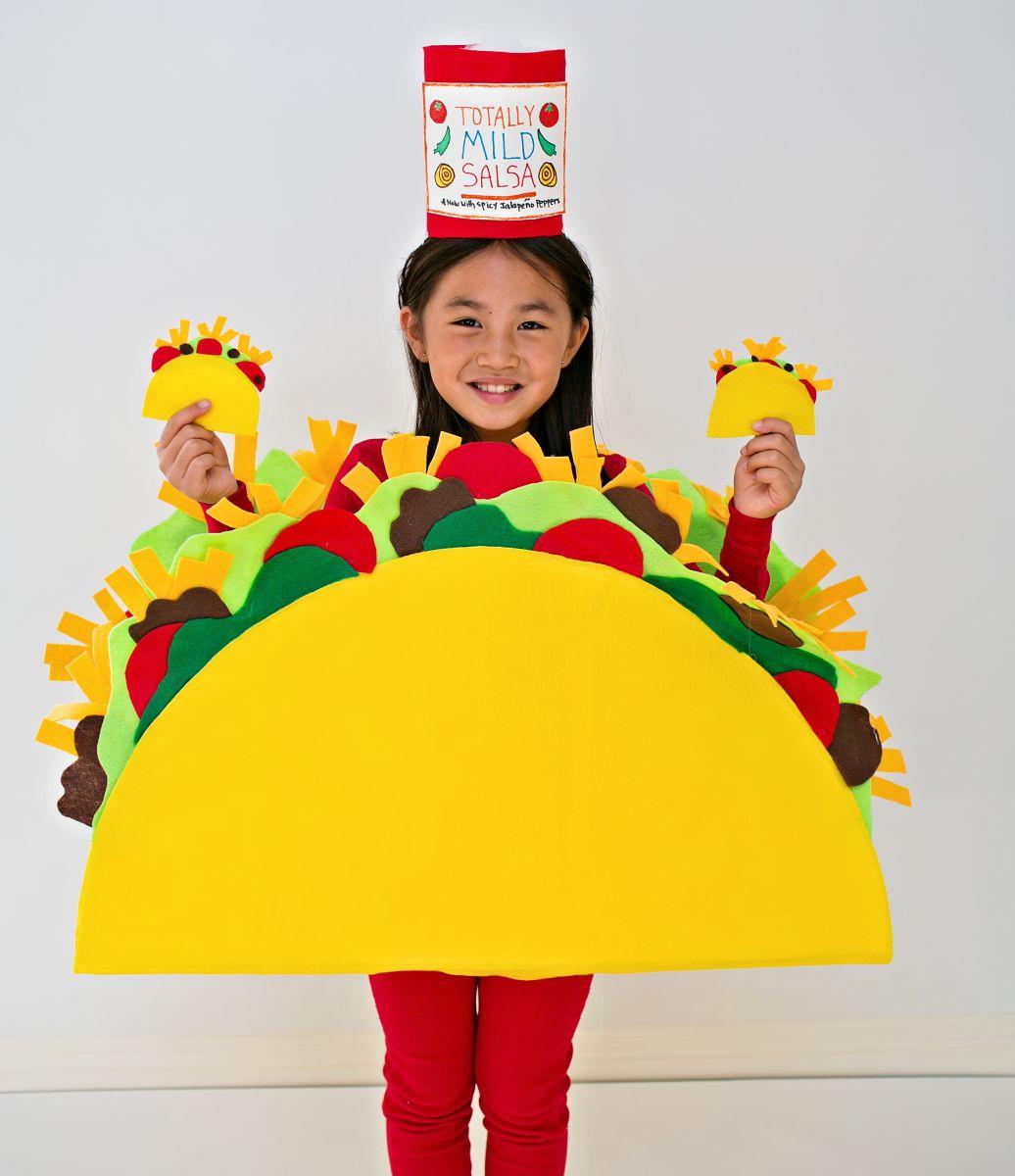 Disfraces Carnaval de goma eva, piñata humana, taco
