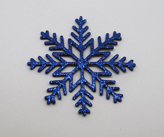 Copos de nieve de goma eva azules 3
