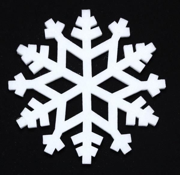 Copos Nieve Goma Eva Blancos 6 Manualidades Con Foamy