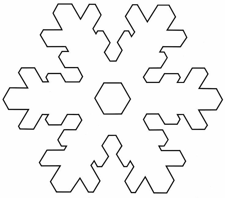 Plantilla copo de nieve para imprimir 3