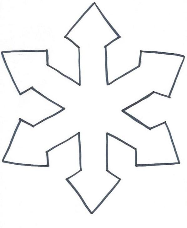Plantilla copo de nieve para imprimir 2