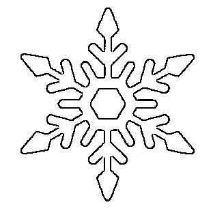 Plantilla copo de nieve para imprimir 4