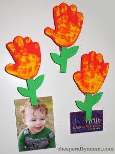 Manualidades con foamy dia de la madre, flor iman